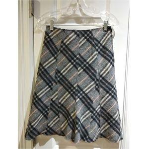 Vintage Burberry Paneled A-Line Skirt